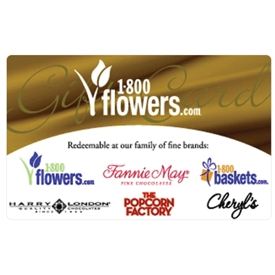 1-800-FLOWERS.COM<sup>®</sup> $25 Gift Card - Order flowers, roses, gift baskets and more.
