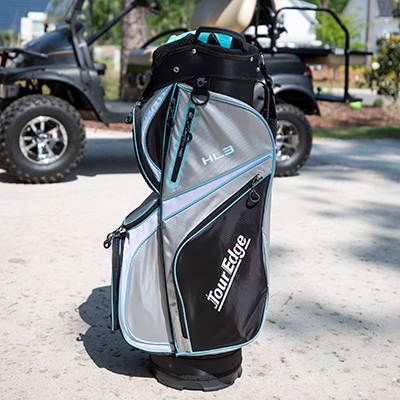 TOUR EDGE<sup>®</sup> HL3 Cart Golf Bag - Transport your clubs and belongings easily on the golf course with this golf bag.  Features 14-way dividers, easy-lift handles and zippered pockets for all your personal items.