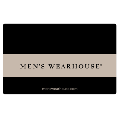 MEN'S WEARHOUSE<sup>®</sup> $25 Gift Card - Buy men's suits, dress shirts, ties, dress shoes and more at great prices!