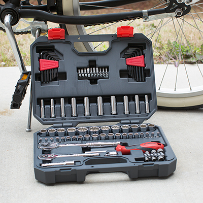 CRESCENT<sup>®</sup> 84 Piece Professional Tool Set - This 84 piece mechanics tool set features a 72 tooth ratchet with a 5 degree swing, sockets with Surface Drive<sup>®</sup> technology which virtually eliminates fastener rounding and a magnetic bit driver with dual material grip for increased leverage.